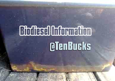 Give advice on Biodiesel, from used sunflower oil, problems