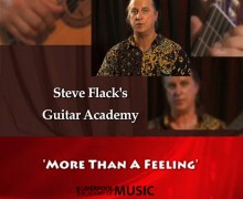 "Guitar Lesson – ""More than a feeling"" – Steve Flack"