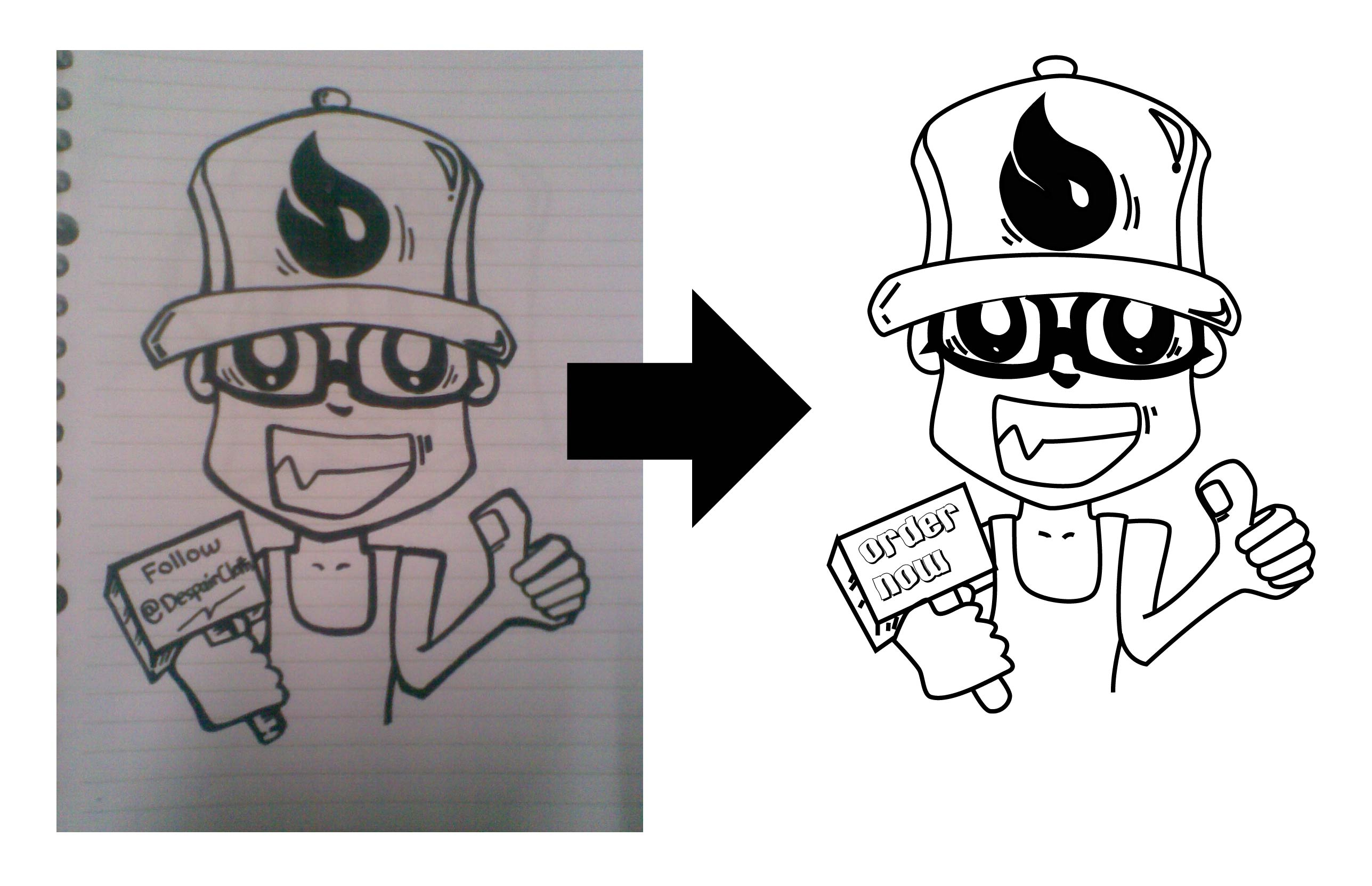 tracing your sketch or logo into a vector image
