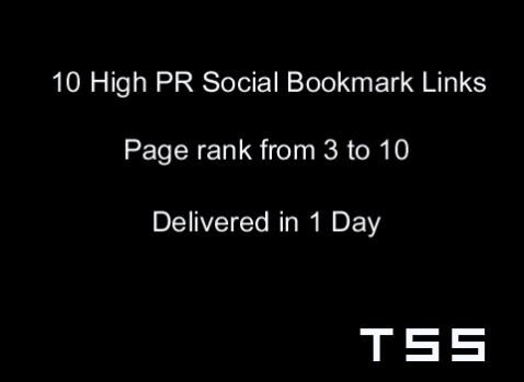 SEO Services – High PR Social Bookmark