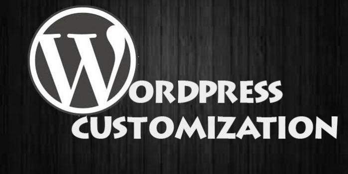 make wordpress website from scratch, html css changes