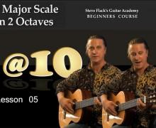 Lesson 05 – G-major Scale in 2 Octaves – Steven Flack